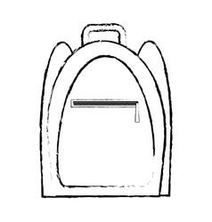 backpack traveler vacation sketch vector image