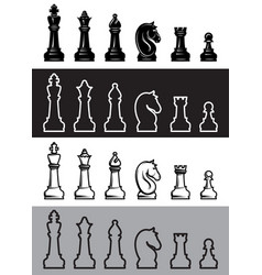 four sets of chess icons vector image