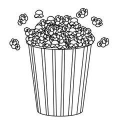 movie pop corn icon vector image vector image