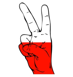 Peace Sign of the Polish flag vector image vector image