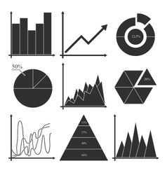 Set of business charts statistic diagrams vector image vector image