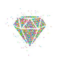 diamond circles abstract vector image vector image