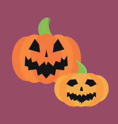 fresh orange pumpkin seasonal ripe food raw vector image