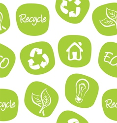 Green environment and recycle background vector image vector image