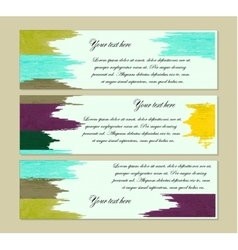 set of modern banners vector image vector image