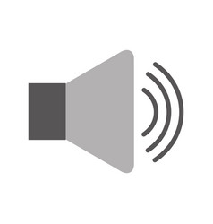 speaker audio isolated icon vector image vector image