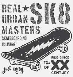 T-shirt typography design skateboard printing vector image