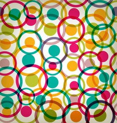 Target circles seamless texture background vector image vector image