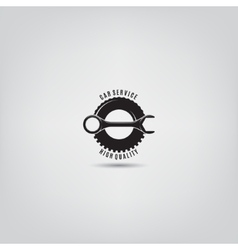 template of car service logo vector image