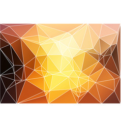 yellow coral pink black geometric background with vector image vector image