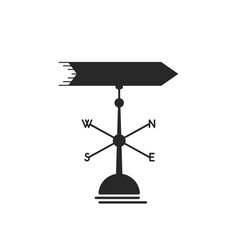 black weather vane icon vector image