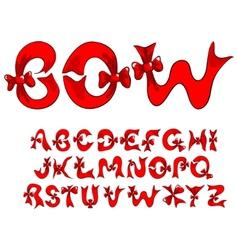 bow alphabet vector image