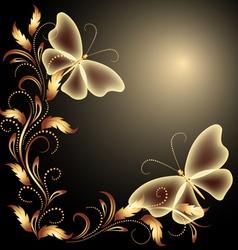 butterflies Decorative background vector image