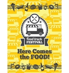 Food truck festival poster vector image