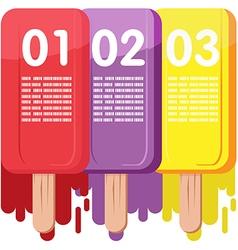 Ice Cream Color Info Graphic vector image vector image
