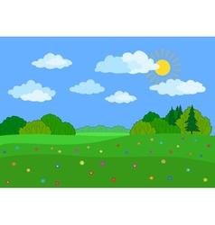 Landscape summer day vector image vector image