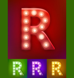 realistic old lamp alphabet vector image vector image