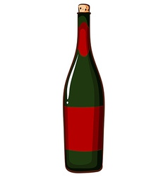 A bottle of champaigne vector