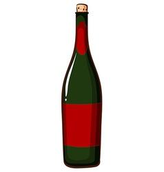 A bottle of champaigne vector image