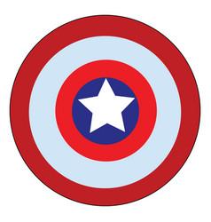 A symbolic shield design carried superhero vector