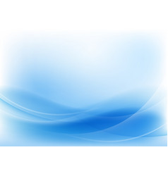 abstract blue wave and line background vector image