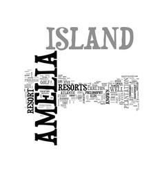 amelia island motel text word cloud concept vector image vector image