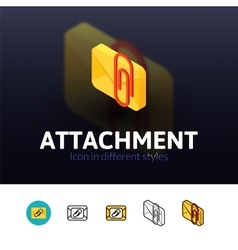 Attachment icon in different style vector image