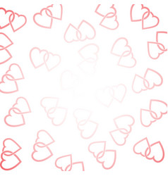 background consisting of two woven hearts vector image
