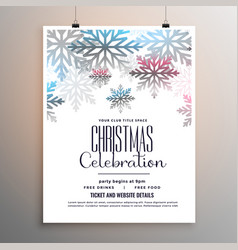 beautiful christmas celebration flyer with vector image