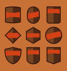 Blank badge set vector