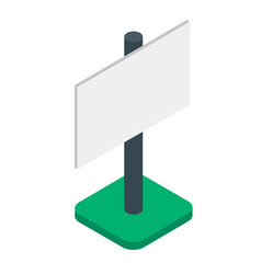 blank banner or billboard isometric isolated vector image