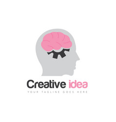brain logo and icon vector image