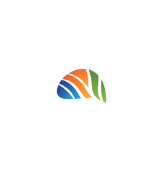 Brain logo template vector