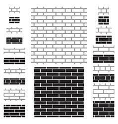 Brick wall sign icons backgrounds vector