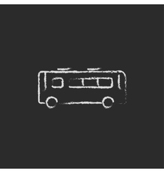 Bus icon drawn in chalk vector image