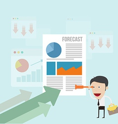 Business man forecasting business trend vector