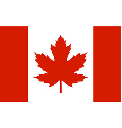 canada flag with real red maple leaf vector image