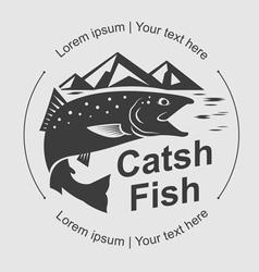 catch fish symbol vector image