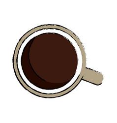 Coffee cup porcelain mug beverage break vector