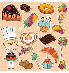 Confectioner vector