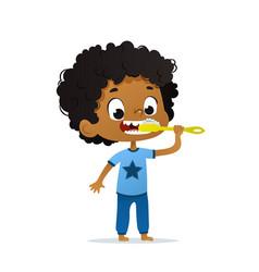 cute kindergarten african vector image