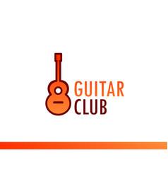 Design of emblem for music club concert vector