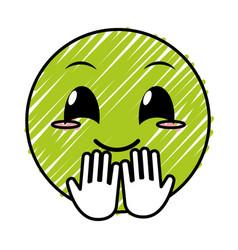 Doodle nice face gesture emoji expression vector