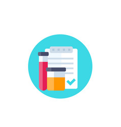Doping control urine and blood test icon vector