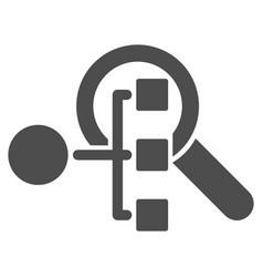 Explore structure icon vector