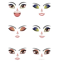 Facial Expression of Woman vector image