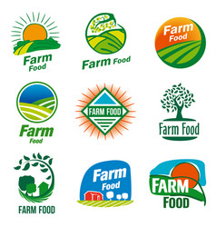 Farm food logo vector