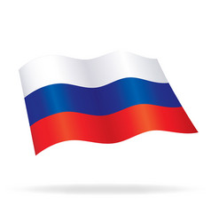 flying russian flag russia silk vector image