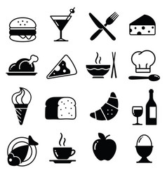 food icons collection 1 vector image