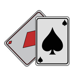 gambling cards isolated vector image